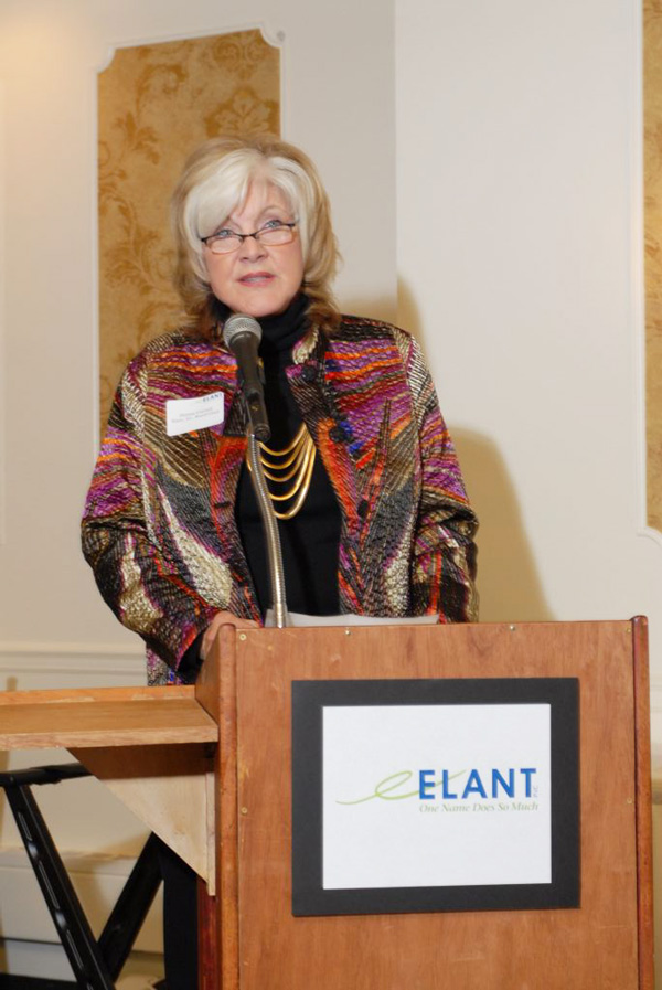 Donna Cornell speaking at Elant