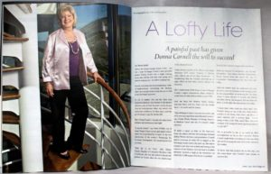 A Lofty Life: A painful past has given Donna Cornell the will to succeed
